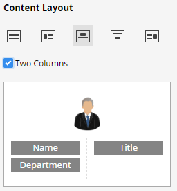 org chart content layout