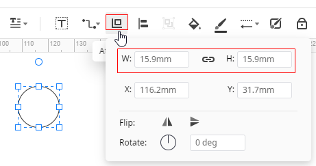 resize shape precisely