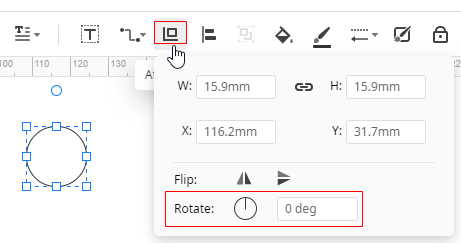 rotate shape precisely