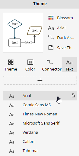 theme font option