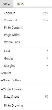 view option menu