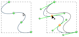 adjust curve segments