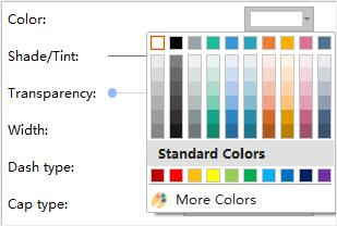 line color option