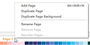 page operation menu