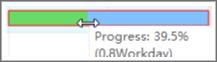 Cambiar porcentaje de tarea completa