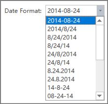 date format list