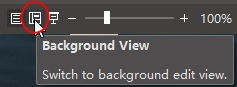 background view button