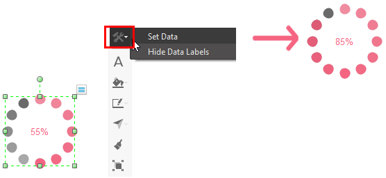 floating button of setting data