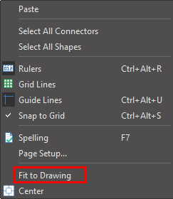 fit to drawing option