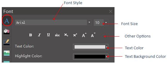 font panel