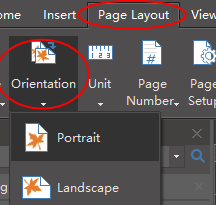 orientation button