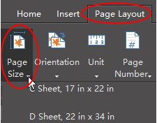 page size button