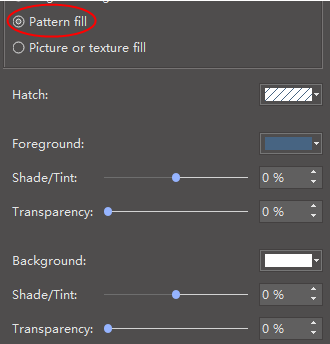 pattern fill option