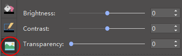 opciones de panel de imagen