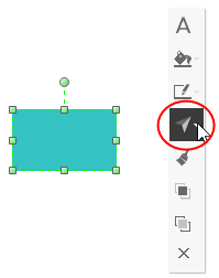 rotate button on floating menu