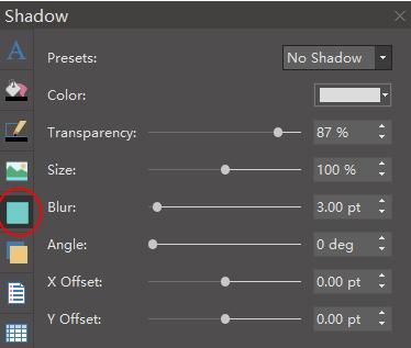 shadow panel
