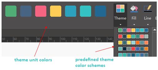opciones de color del tema