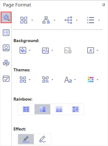 panel del formato de página