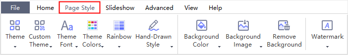 page style tab
