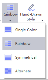 rainbow option menu