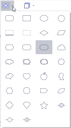 shape style menu