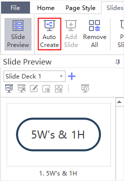 slide preview panel