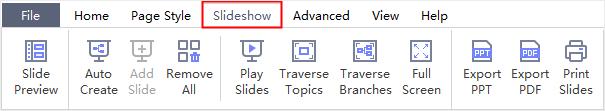 slideshow tab