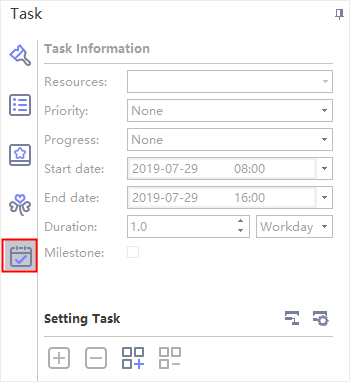 task panel