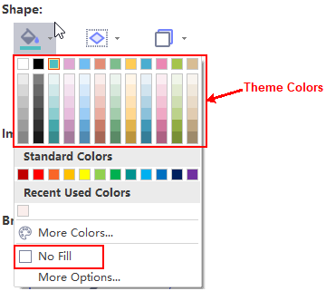 theme fill colors