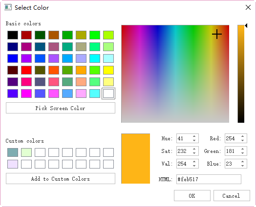 pick screen color