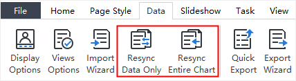 resync data only