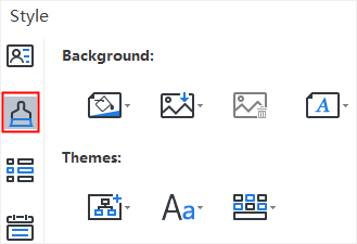 right sidebar style section