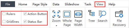 view tab display