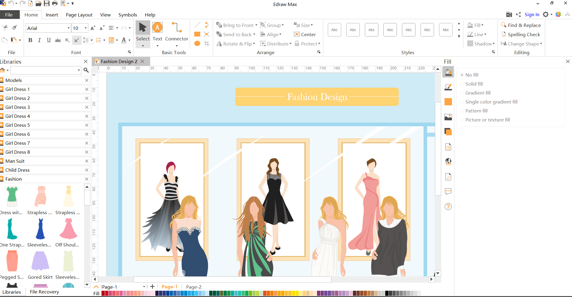 Edraw Fashion Sketcher Free Download