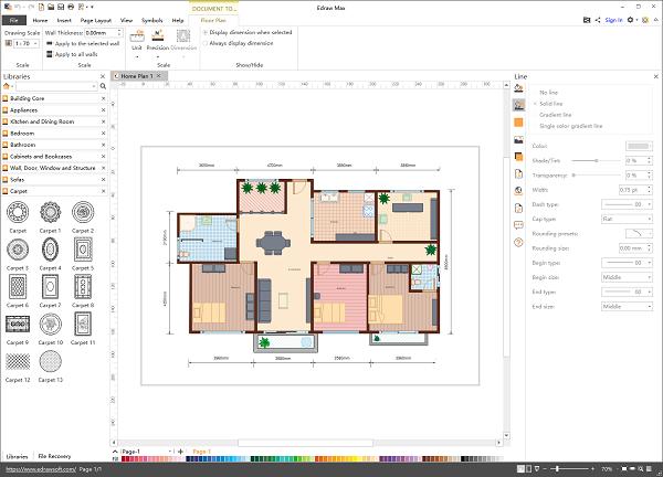 Modèle de plan de maison