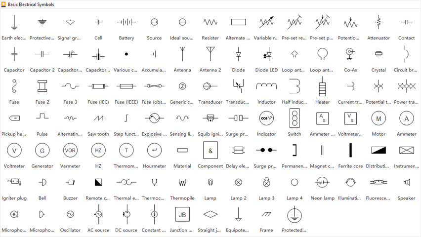 Electrical Drawing Symbols