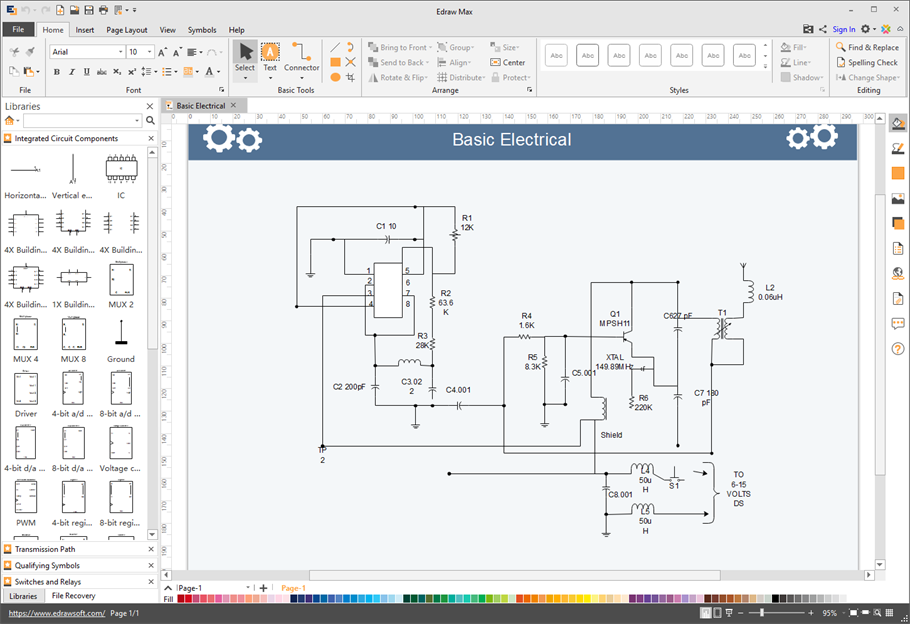 [DIAGRAM_38ZD]  Circuit Diagram Software for Mac, Windows and Linux | Wiring Diagram Software Mac |  | Edraw