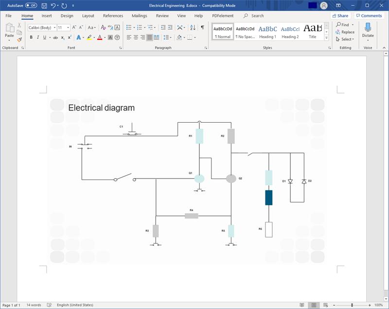 Create Circuit Diagram For Word