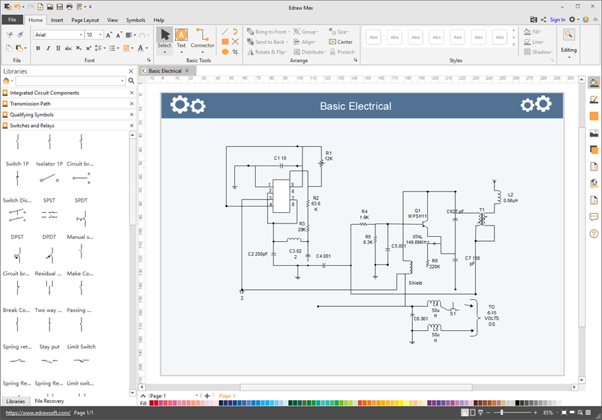 electrical circuit diagram drawing software free download