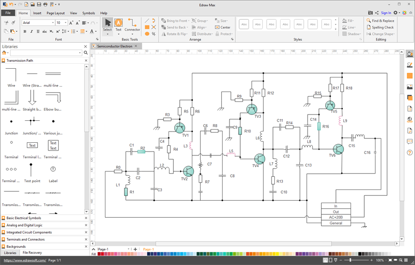 Wiring Diagram Software - Draw Wiring Diagrams with Built-in SymbolsEdraw