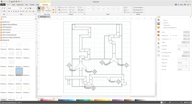 Simple Hvac Plan Software Make Great Looking Hvac Plan