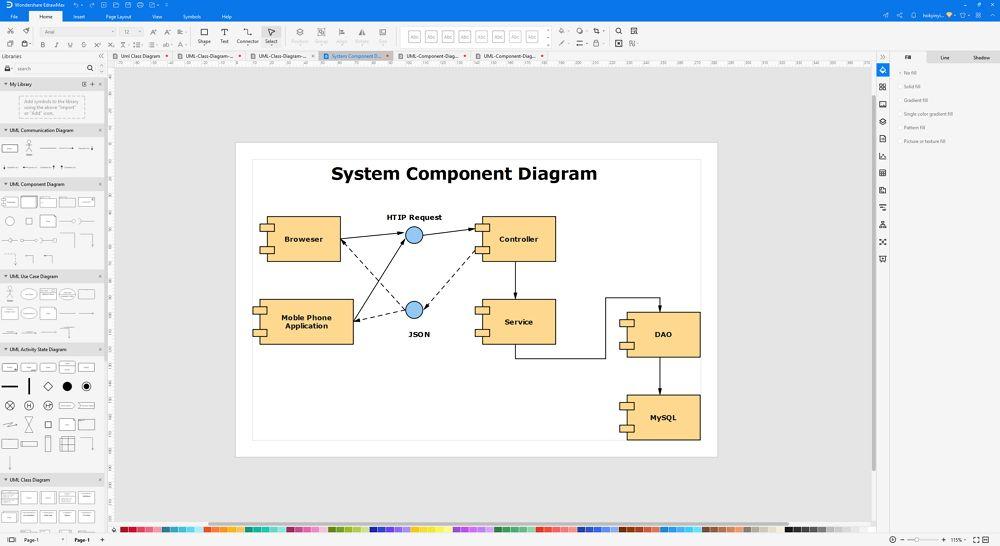 How to Create A UML Component Diagram