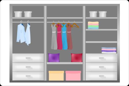 Wardrobe layout