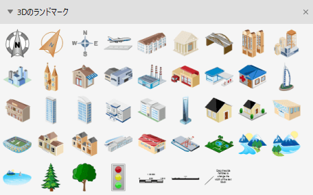 3D ランドマーク図形