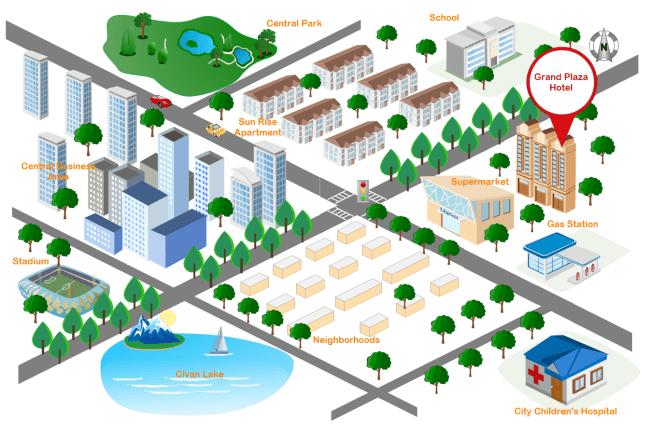 3D 道路地図テンプレート