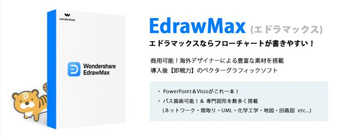 フローチャートを無料で書くならEdrawMax(エドラマックス)