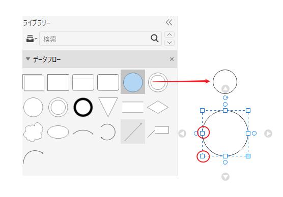 データフロー図図形の添加