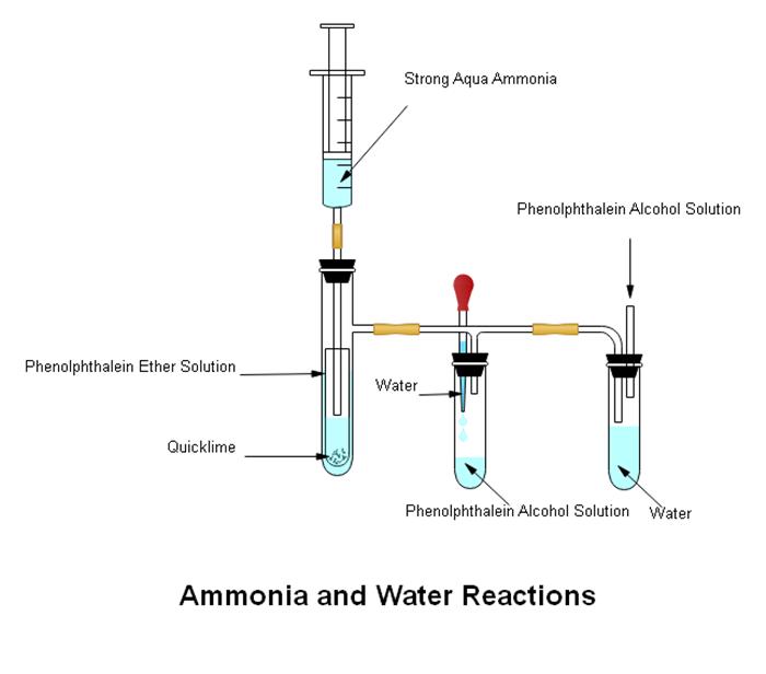 アンモニアと水の反応