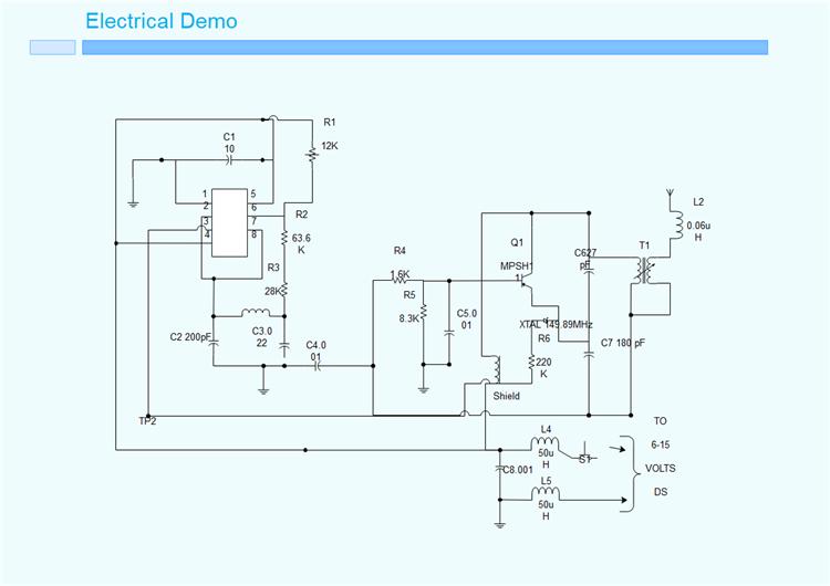 基本電気回路図例