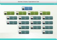 写真入りの会社組織図